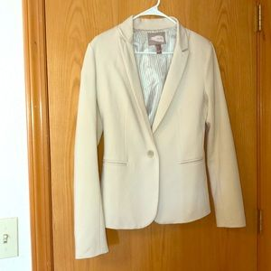 Forever 21 Contemporary Cream Blazer